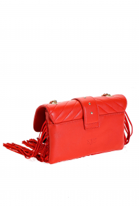 SHOPPING ON LINE PINKO MINI LOVE BAG SOFT FRINGES IN NAPPA NEW COLLECTION WOMEN'S SPRING SUMMER 2020