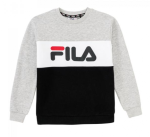 Felpa bambino FILA NIGHT BLOCKED CREW