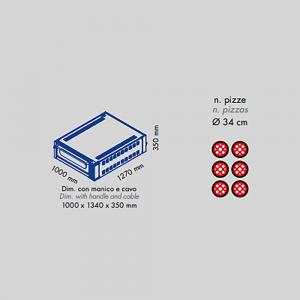 Forno Pizza Professionale M6 Sovrapponibile - 6 x Ø 34 cm