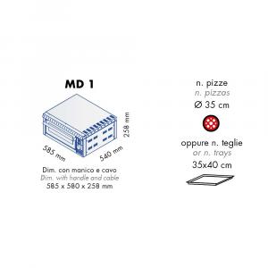 Forno Pizza Professionale GAM MD1 - 1 x Ø 35 cm