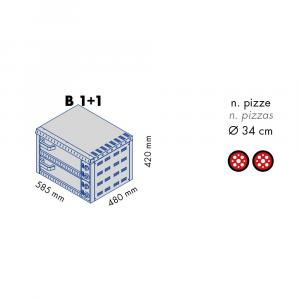 Forno Pizza Professionale B1+1 - 1+1 x Ø 34 cm