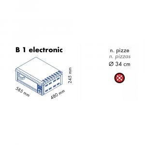 Forno Pizza Professionale B1 electronic - 1 x Ø 34 cm