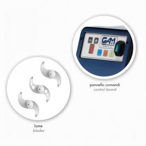 Cutter Professionale GAM Pratic 5 - 9 Velocità
