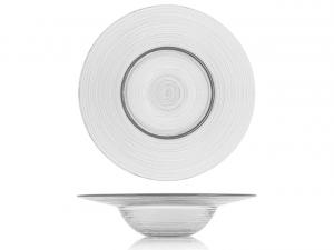 Piatto pasta in vetro trasparente cm.6,5h diam.29