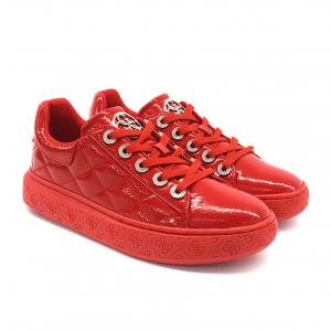 Sneaker rossa in vernice Guess