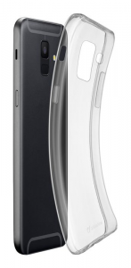 Cellularline Fine - Galaxy A6 (2018) Cover in gomma morbida ultra sottile e trasparente Trasparente