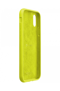Cellularline Sensation - iPhone XR Custodia in silicone soft touch Lime