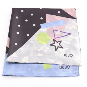 Foulard Liu Jo POP 2A0056 T0300 B&W POP FACES