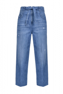 SHOPPING ON LINE PINKO JEANS STRAIGHT-FIT CON CINTURA MORGAN 2 NEW COLLECTION WOMEN'S SPRING SUMMER 2020