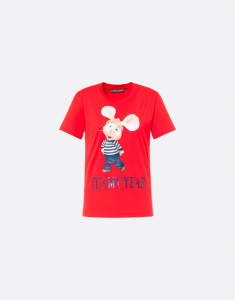 Topo Gigio print cotton T-shirt