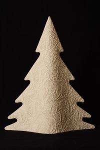 Albero di Natale Moderno Avorio in Gres Porcellanato cm 40