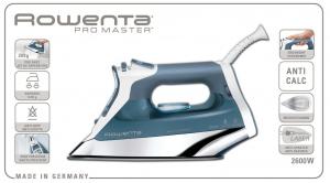 Rowenta Pro Master DW8110 Ferro a vapore Acciaio inossidabile Blu, Bianco 2600 W