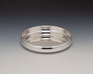 Ciotola tonda placcata argento cm.2h diam.6