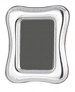 Cornice sagomata argentata 4x6 stile Perles cm.6x4