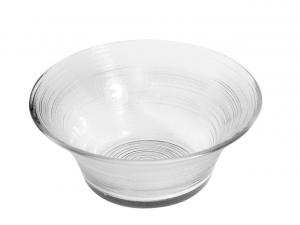 Coppa in vetro trasparente cm.6,5h diam.19,5