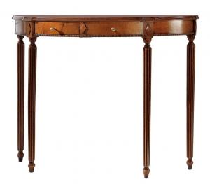 Consola decorativa en madera con patas torneada