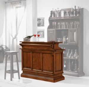 Mostrador del bar en madera movible