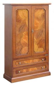 Armario en madera con raíz 2 puertas 2 cajones