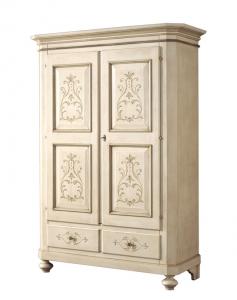Armario 2 puertas con decoraciones, estilo clásico