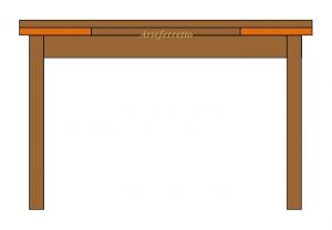Mesa rectangular extensible con extensiones debajo de tablero 140 - 220 cm