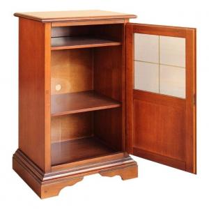 Mueble con marquetería telefonera de salón