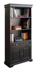 Mueble librería alto negro 2 puertas