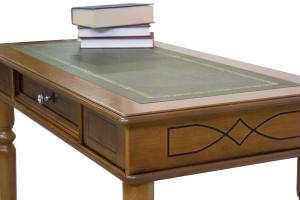 Mesa de despacho con mastique y tablero en cuero