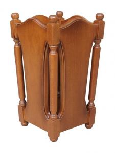 Paragüero de madera en estilo clásico