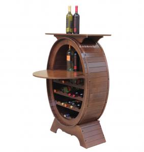 Botellero con tapa en madera de estilo clásico