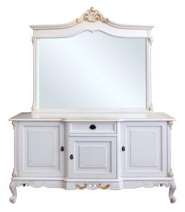 Composición clásica aparador y espejo combinado