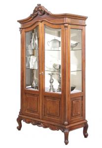 Cristalera vitrina 2 puertas estantes en vidrio