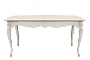 Mesa rectangular estilo clásico patas moldeadas 166-246 cm