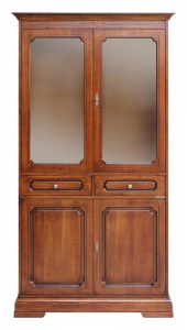 Vitrina estilo clásico 4 puertas 2 cajones