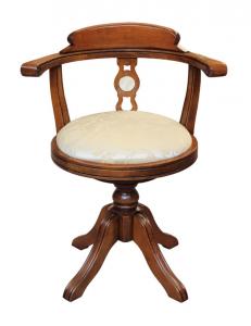 Silla de madera Taormina con asiento tapiazado