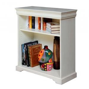 Mueble librería bajo para libros estilo Luis Felipe