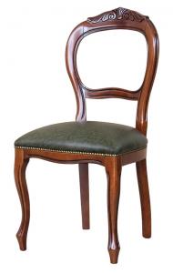 Silla respaldo tallado estilo clásico en madera