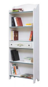 Librería decorada estilo provenzal con cajón