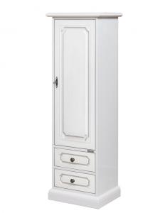 Armario 1 puerta laqueado blanco en madera