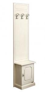 Mueble ahorra espacio para recibidor, en madera lacada
