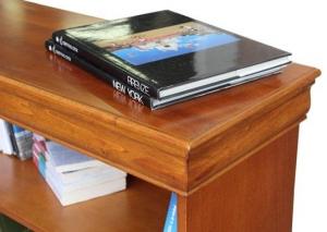 Pequeña librería de madera estilo clásico Luis Felipe