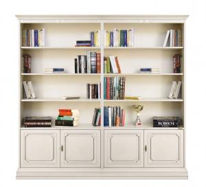 Librería de pared laqueada estantes ajustables artesanado italiano Liber 202