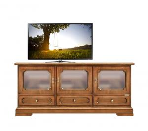Mueble tv vitrina baja en madera de artesanado veneciano Vicenza