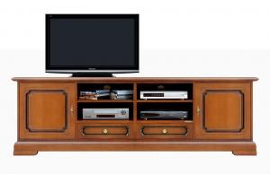Mueble tv de pared para salón en madera