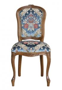 Silla estilo clásico acolchada en tejido diseño italiano Elegance