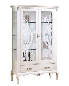 Vitrina en madera 2 puertas diseño italiano