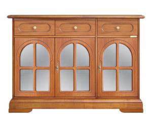 Aparador puertas vitrinas rodeadas en madera