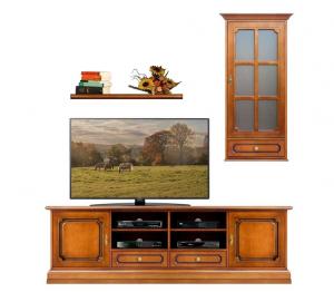 Composición mueble de tv para salón en madera