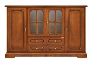 Aparador mueble de pared puertas vitrinas centrales