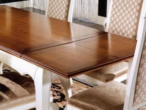 Mesa rectangular extensible en madera 170-220 cm