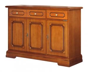Aparador estilo clásico en madera 2 cajones resistentes